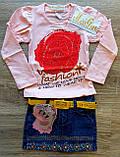 Дитячий костюм MISS реглан і джинсова спідниця з пояском, фото 4