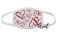 Стильна тканинна маска для обличчя Сердечка