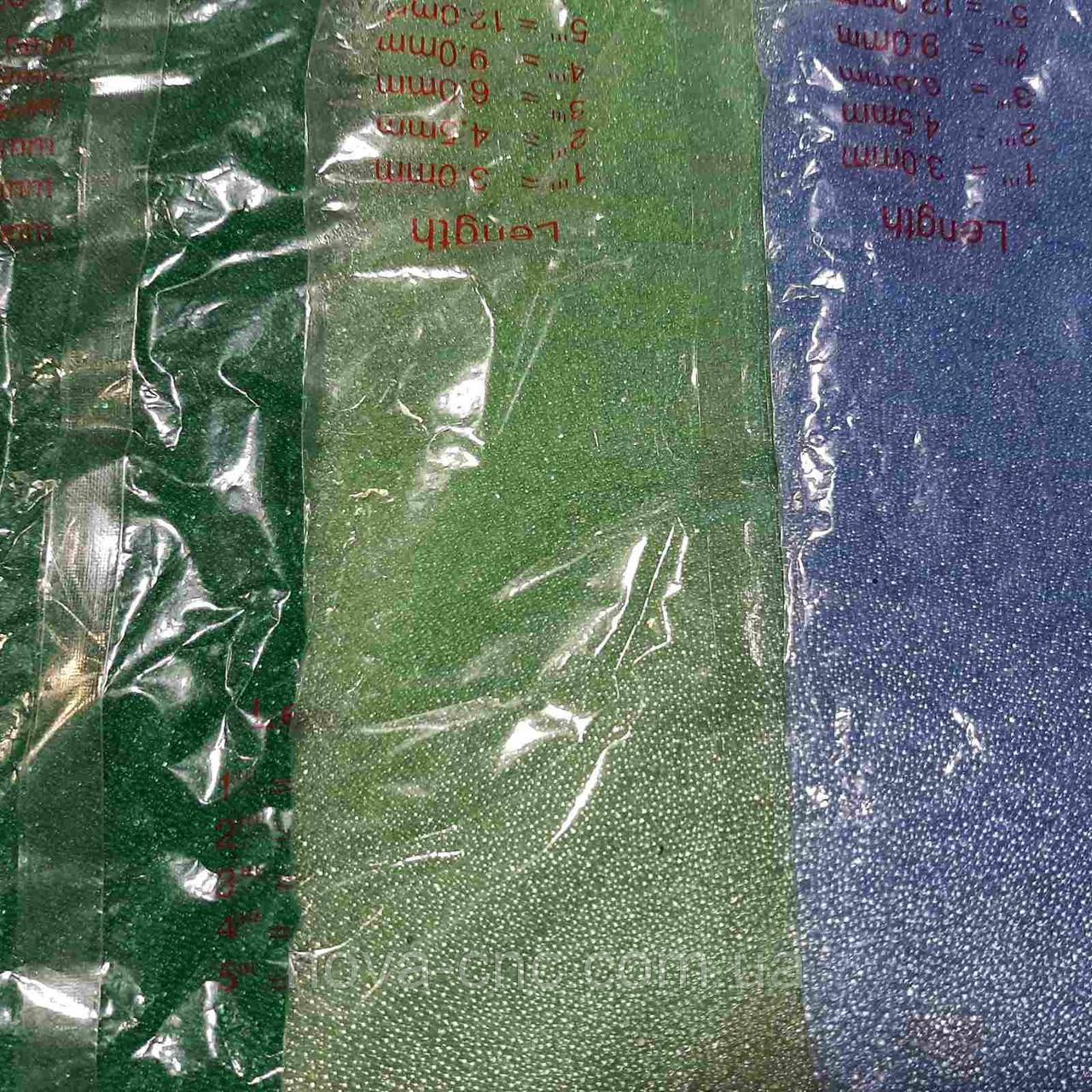 Бульонка прозрачная, присыпка, микробисер - зеленый, салатовый, голубой 400 грамм