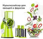 Ручная овощерезка-мультислайсер Kitchen Master для овощей и фруктов, зеленый цвет, фото 4