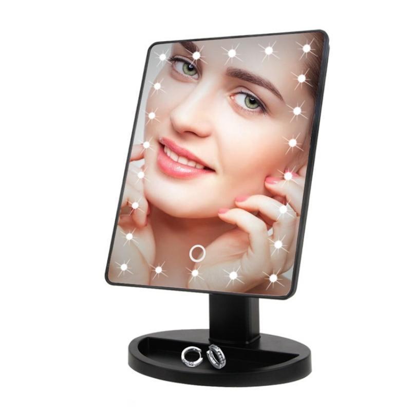 """Настольное зеркало с подсветкой """"Hollywod 360"""" 16 светодиода, косметическое зеркало для макияжа"""
