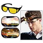 Антибликовые очки HD VISION 2 штуки в наборе, от солнечных бликов и для ночного вождения, фото 6