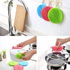 Кухонные силиконовые тряпки-щетки Better Sponge для мытья посуды без химии набор из 3-х штук, фото 4