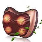 Роликовая массажная подушка с инфракрасным прогревом Massage Pillow на аккумуляторе, фото 2
