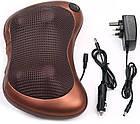 Роликовая массажная подушка с инфракрасным прогревом Massage Pillow на аккумуляторе, фото 8