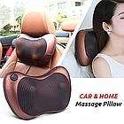 Роликовая массажная подушка с инфракрасным прогревом Massage Pillow на аккумуляторе, фото 10
