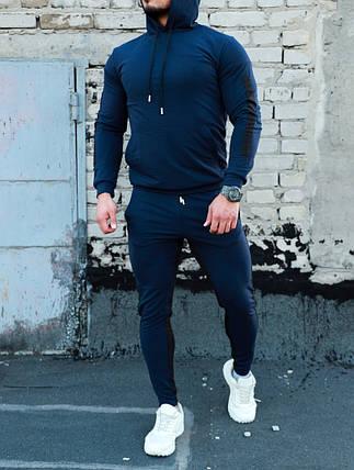 Спортивный костюм Адмирал синего цвета с полулампасами, фото 2