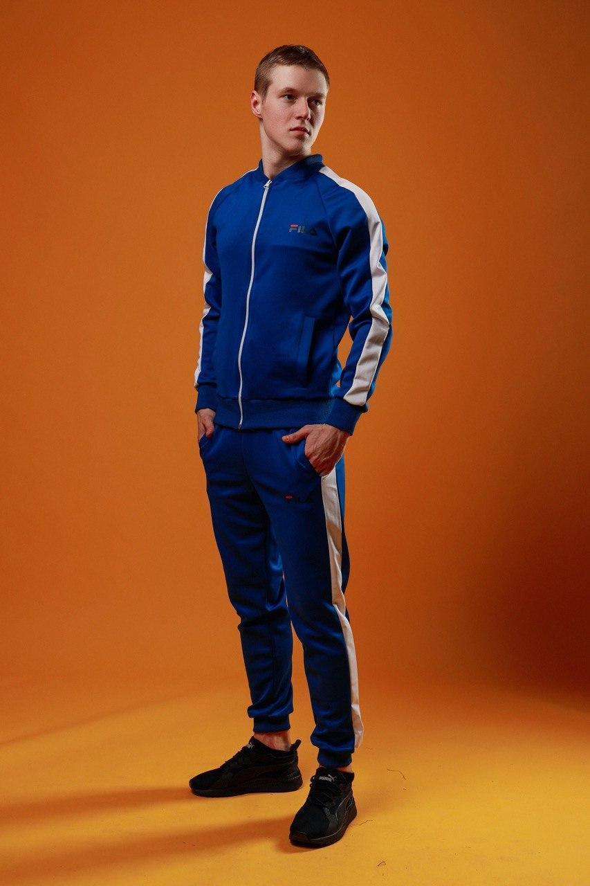 Спортивный костюм Фила синего цвета с лампасами