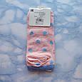 Носки женские короткие с принтом розовые размер 36-41, фото 7