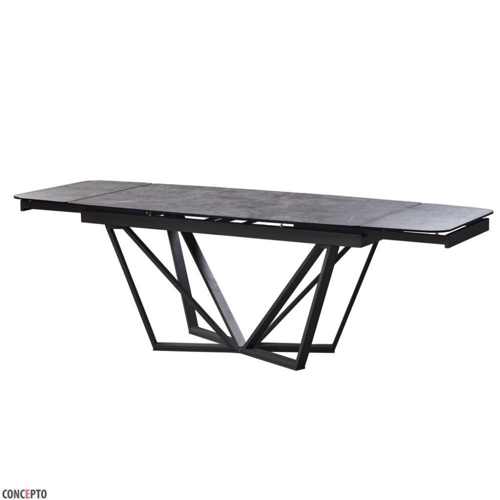Стол Обеденный Cтеклянный HARBOR IRON GREY 160-240 Concepto