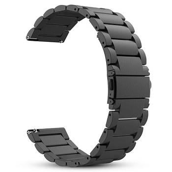 Металлический ремешок Primo для часов Garmin Vivoactive 3 / Vivomove HR / Forerunner 245 / 645 - Black