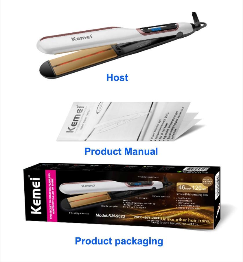 Профессиональная плойка c инфракрасным излучением Kemei Km-9623 выпрямитель для волос