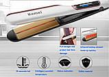 Профессиональная плойка c инфракрасным излучением Kemei Km-9623 выпрямитель для волос, фото 5