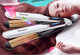 Професійна плойка c інфрачервоним випромінюванням Kemei Km-9623 випрямляч для волосся, фото 6