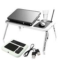 Столик-подставка для ноутбука E-Table с охлаждением и регулировкой наклона и высоты