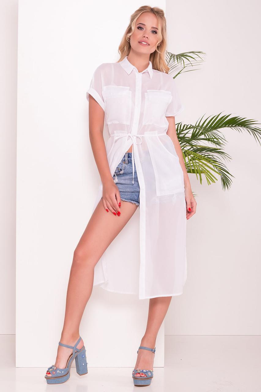 Платье-рубашка Эриал белая