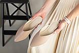 Бежевые кожаные женские мюли, фото 6