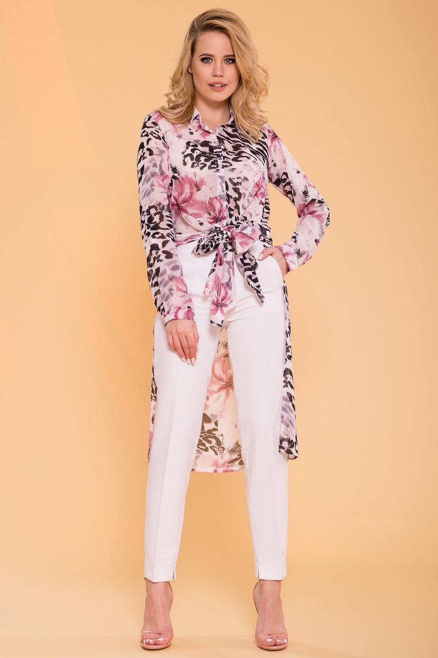 Рубашка с цветочным принтом Лайк