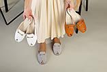 Белые кожаные мюли с фурнитурой, фото 8