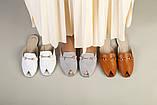 Белые кожаные мюли с фурнитурой, фото 9
