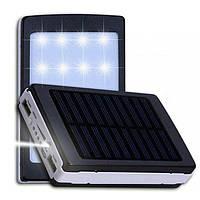 Карманный Power Bank Solar 50000 mAh, портативное зарядное устройство на солнечной батарее с фонариком
