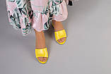 Желтые кожаные мюли, фото 4