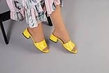 Желтые кожаные мюли, фото 5