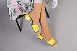 Желтые кожаные мюли, фото 6