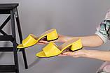 Желтые кожаные мюли, фото 9