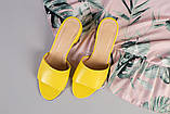 Желтые кожаные мюли, фото 10