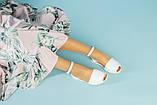 Жіночі білі шкіряні босоніжки, фото 10