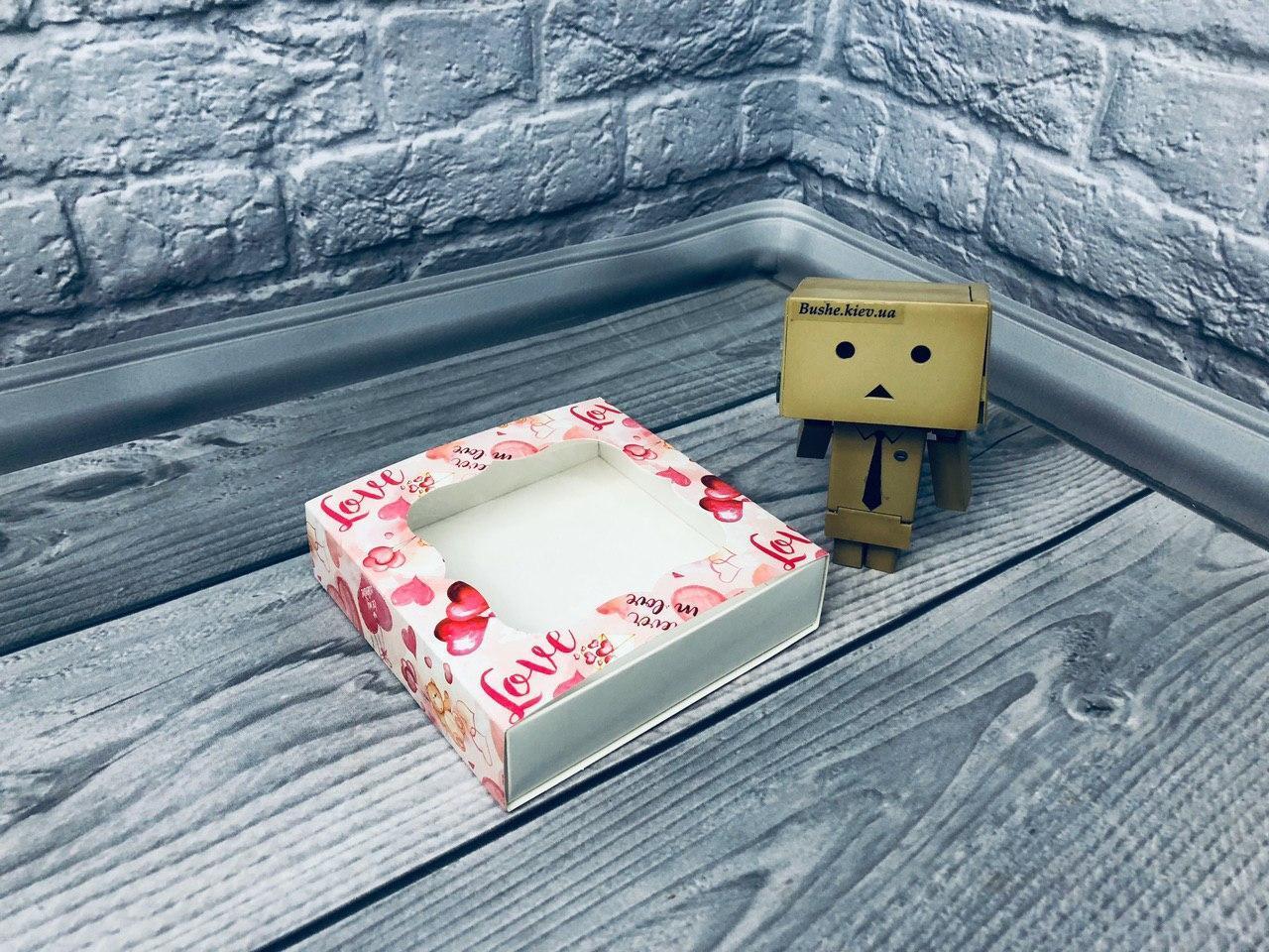 *50 шт* / Коробка для пряников / 120х120х30 мм / печать-Мишарики / окно-обычн / лк