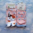 Носки женские короткие с принтом розовые размер 36-41, фото 4