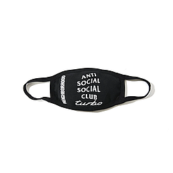 Маска на лицо многоразовая • Бафф Anti Social Social Club ASSC Turbo черная