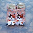 Шкарпетки жіночі короткі з принтом рожеві розмір 36-41, фото 2