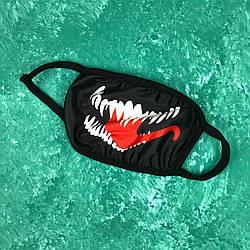 Маска на лицо многоразовая • Бафф Venom Black Черная