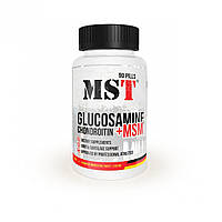 Для суставов и связок MST Nutrition Chondroitin - Glucosamine - MSM 90 таблеток (30 порций) Глюкозамин сульфат МSМ Хондроитин сульфат 