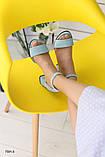 Женские замшевые бирюзовые босоножки, фото 2