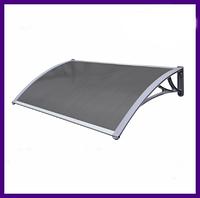 Навес Козырек из Поликарбоната  для входных дверей Siker 1000-C (1000 * 1500) Серый