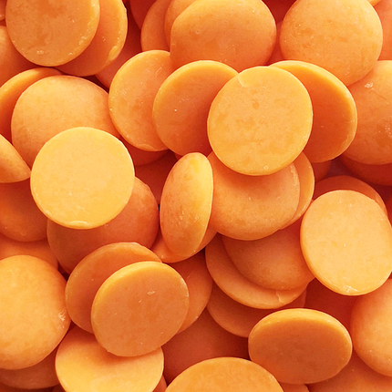 Глазур шоколадна помаранчева диски, фото 2