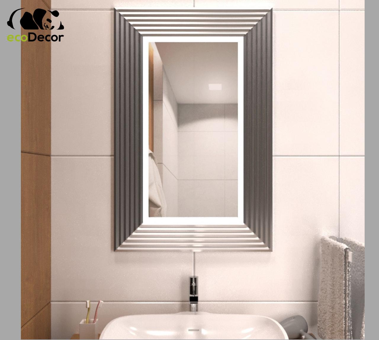 Дзеркало у ванну срібне Alanno P2