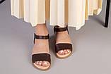 Женские темно-крочневые босоножки кожа питон, фото 6