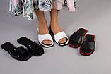 Женские черные кожаные шлепанцы, фото 9