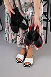 Женские черные кожаные шлепанцы, фото 10
