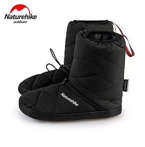 Кемпинговые утеплённые тапочки Naturehike. Кемпинговая обувь Naturehike. Размер XL (42-43) черный
