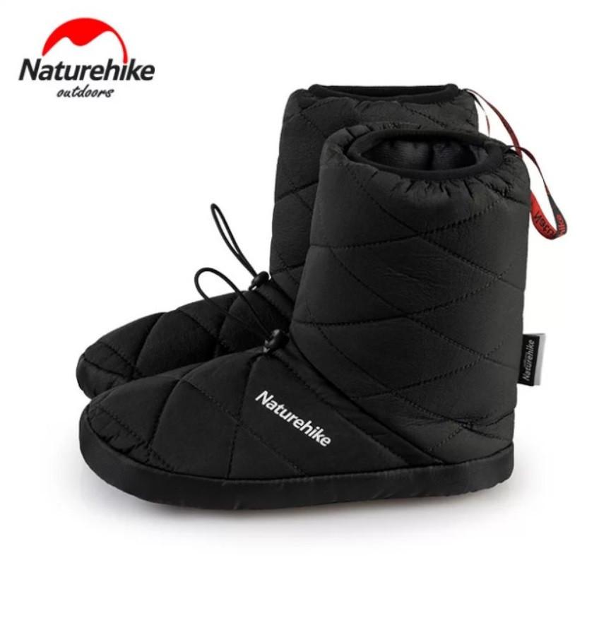 Кемпинговые утеплённые тапочки Naturehike. Кемпинговая обувь Naturehike. Размер XXL (44-45) черный