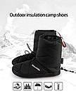Кемпинговые утеплённые тапочки Naturehike. Кемпинговая обувь Naturehike. Размер XXL (44-45) черный, фото 5