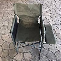 """Стул """"Режиссер с мягкой полкой Эконом"""" d25мм (оксфорд хаки) Кресло для рыбалки и отдыха на природе"""