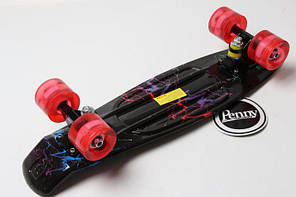 """Скейт Пенни борд Penny Board Ultra Led 22"""" Стрит - Молния 54 см, фото 3"""