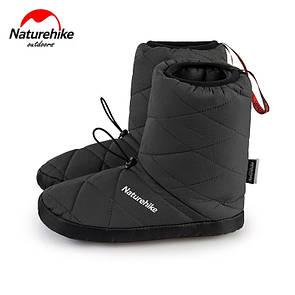 Кемпинговые утеплённые тапочки Naturehike. Кемпинговая обувь Naturehike. Размер М (38-39) серый